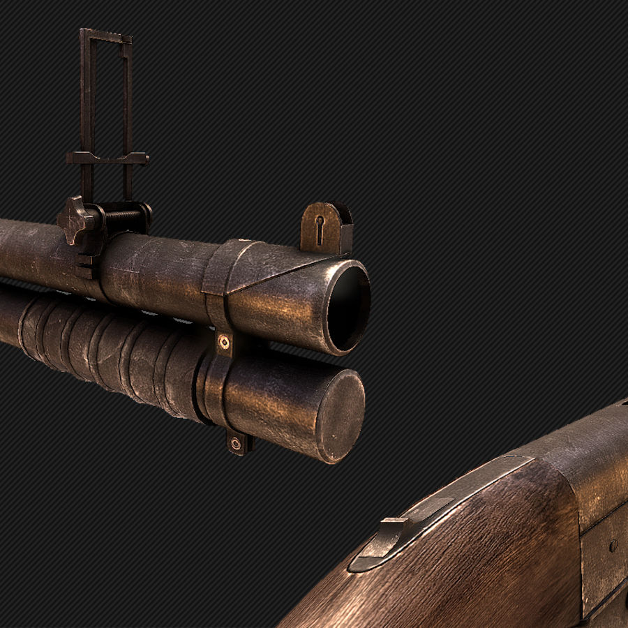 Grenade Launcher EX-41 royalty-free 3d model - Preview no. 2