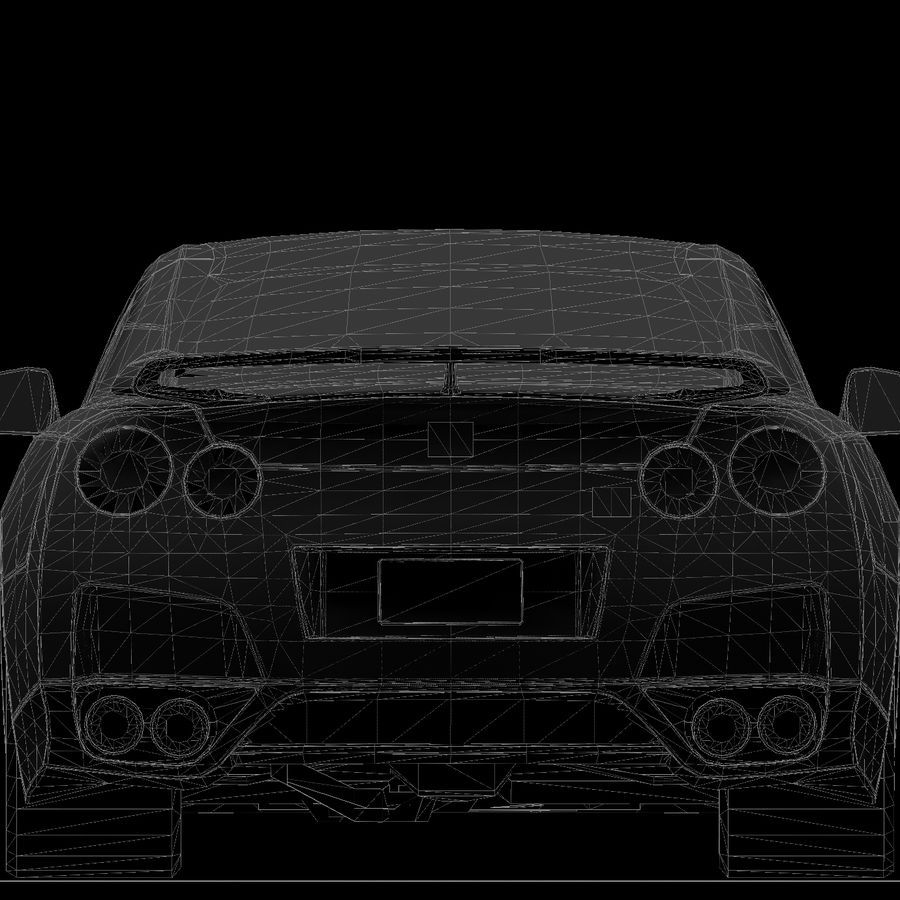 Nissan GTR royalty-free 3d model - Preview no. 16