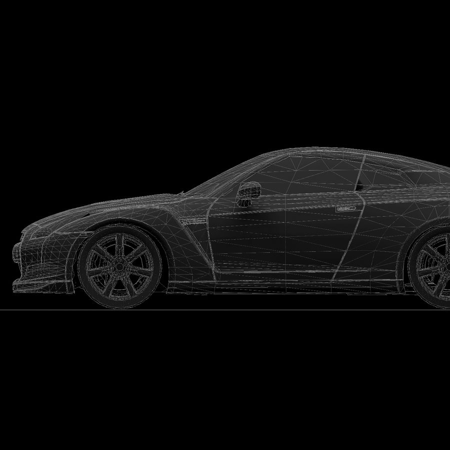 Nissan GTR royalty-free 3d model - Preview no. 18