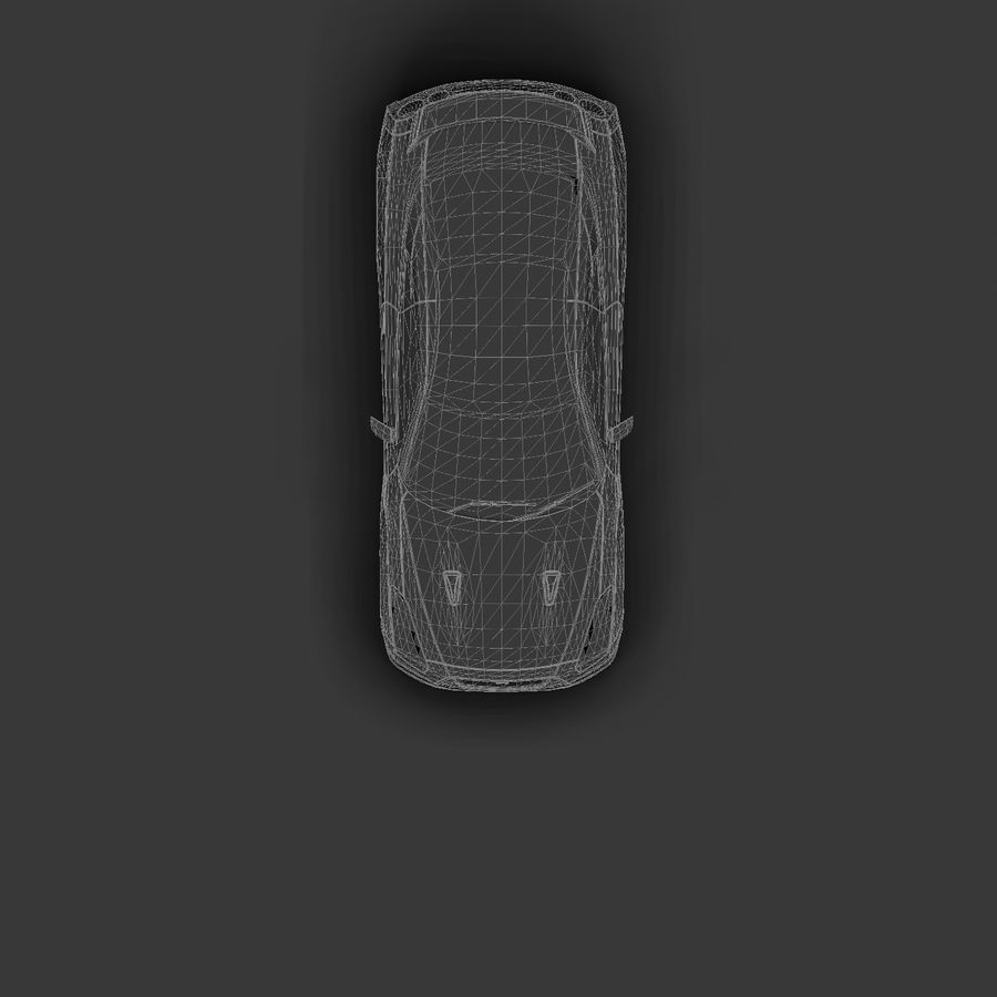 Nissan GTR royalty-free 3d model - Preview no. 14