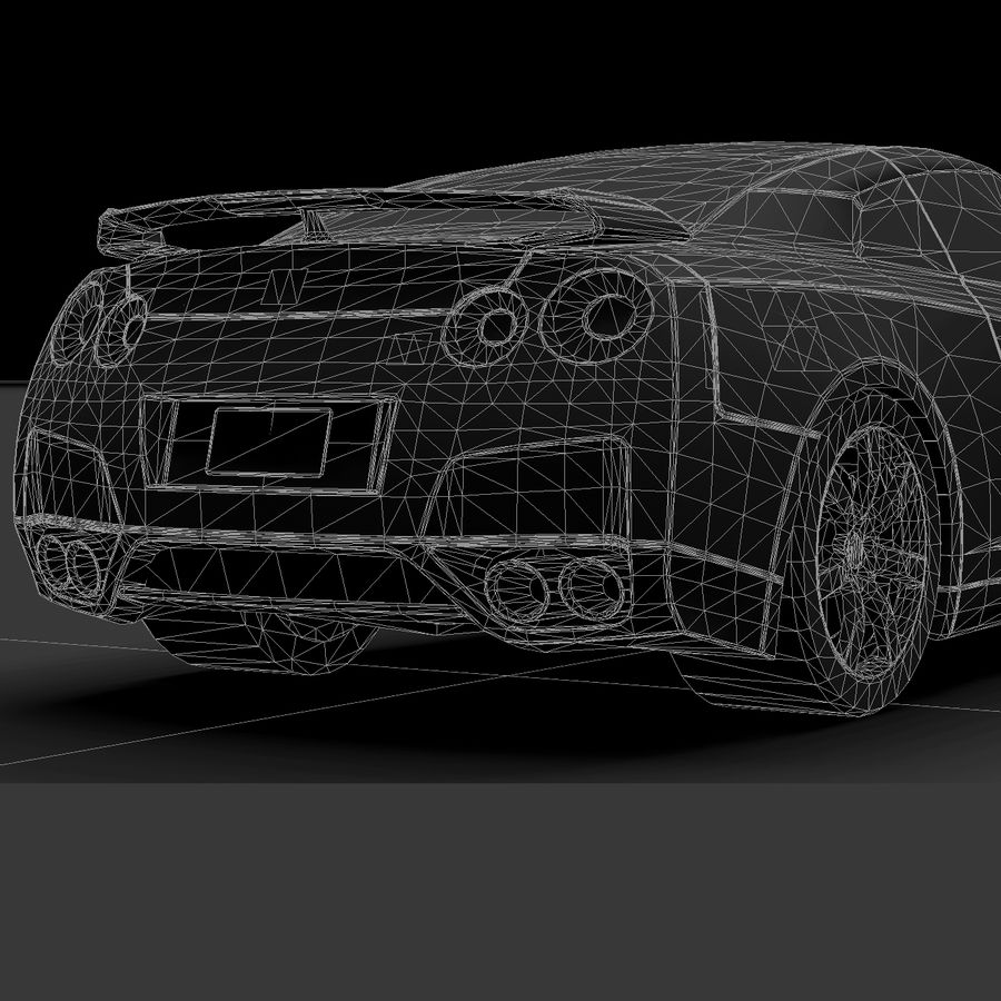 Nissan GTR royalty-free 3d model - Preview no. 13
