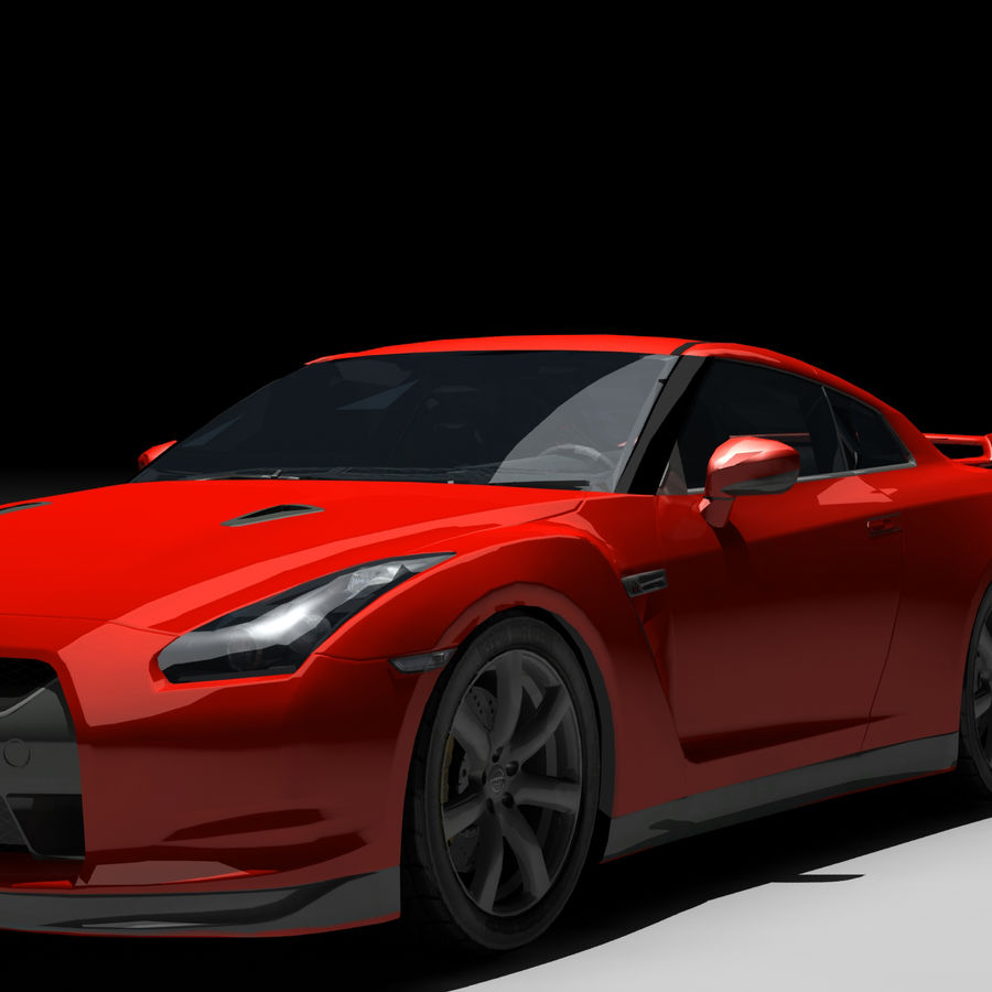 Nissan GTR royalty-free 3d model - Preview no. 4