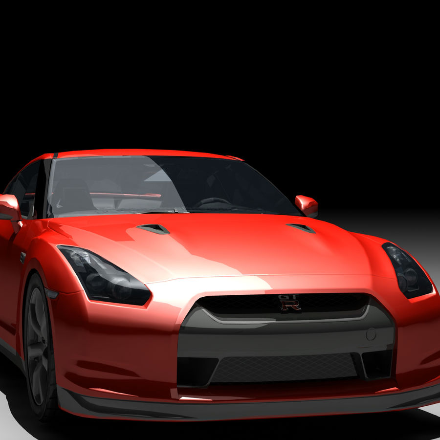 Nissan GTR royalty-free 3d model - Preview no. 9