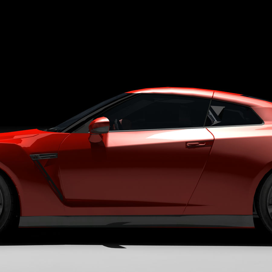 Nissan GTR royalty-free 3d model - Preview no. 5