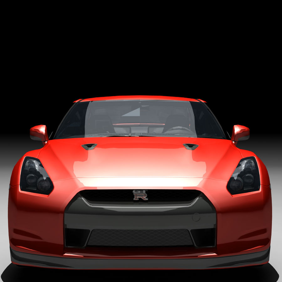 Nissan GTR royalty-free 3d model - Preview no. 10