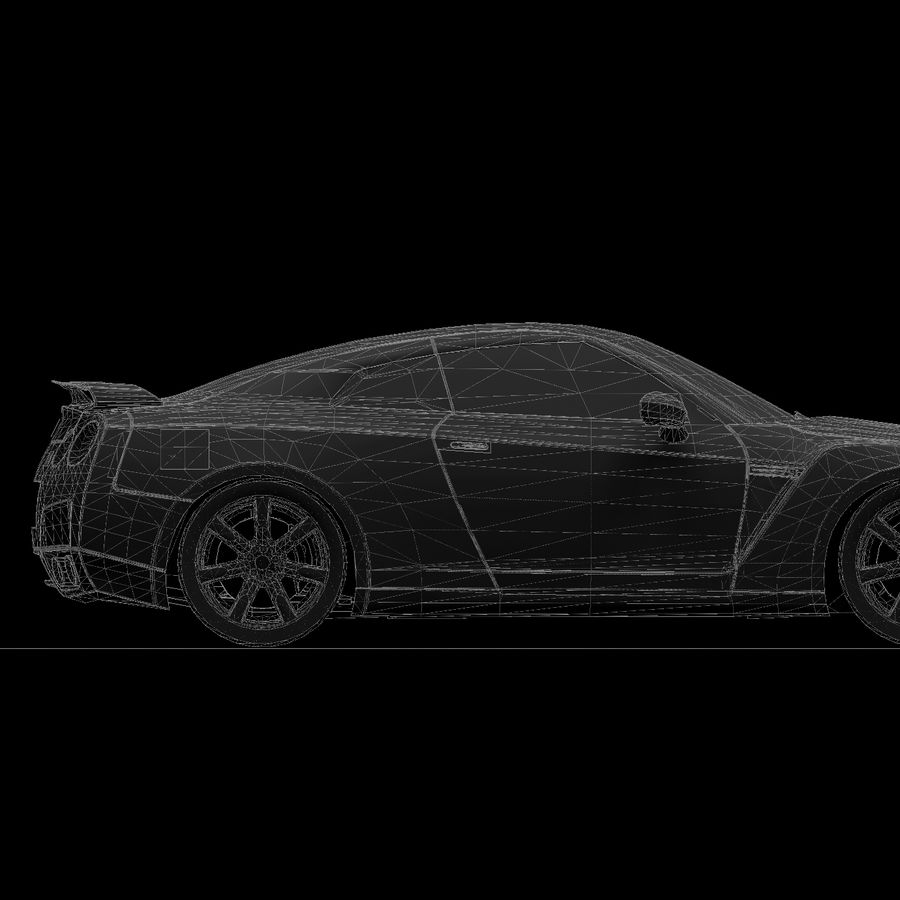 Nissan GTR royalty-free 3d model - Preview no. 17