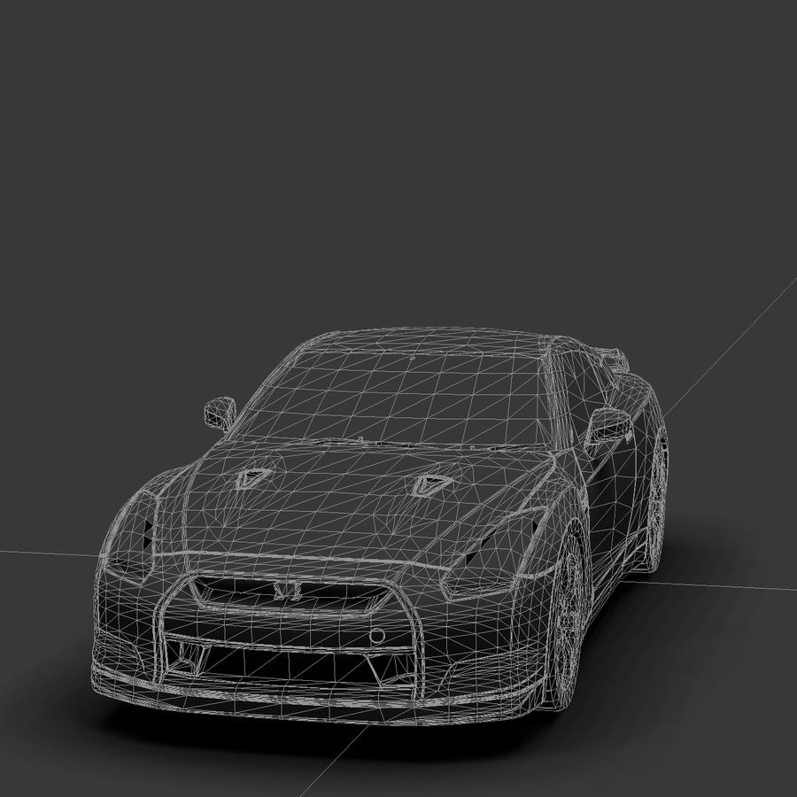 Nissan GTR royalty-free 3d model - Preview no. 11