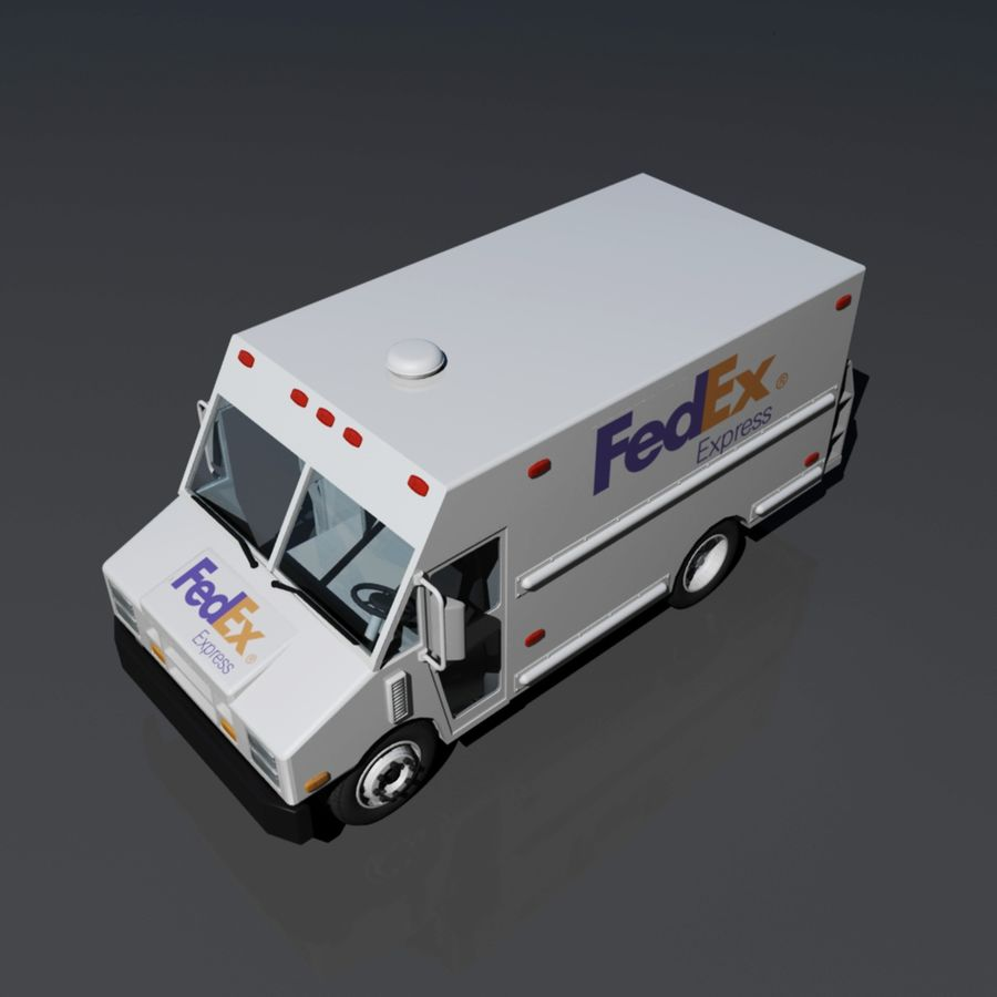 FedEx Delivery Truck royalty-free 3d model - Preview no. 5