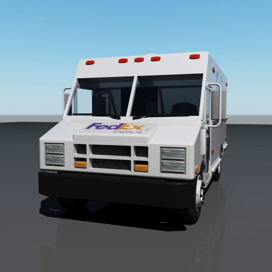 FedEx Delivery Truck royalty-free 3d model - Preview no. 4