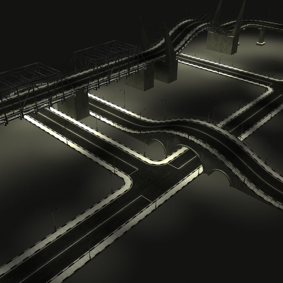HighWay royalty-free 3d model - Preview no. 9