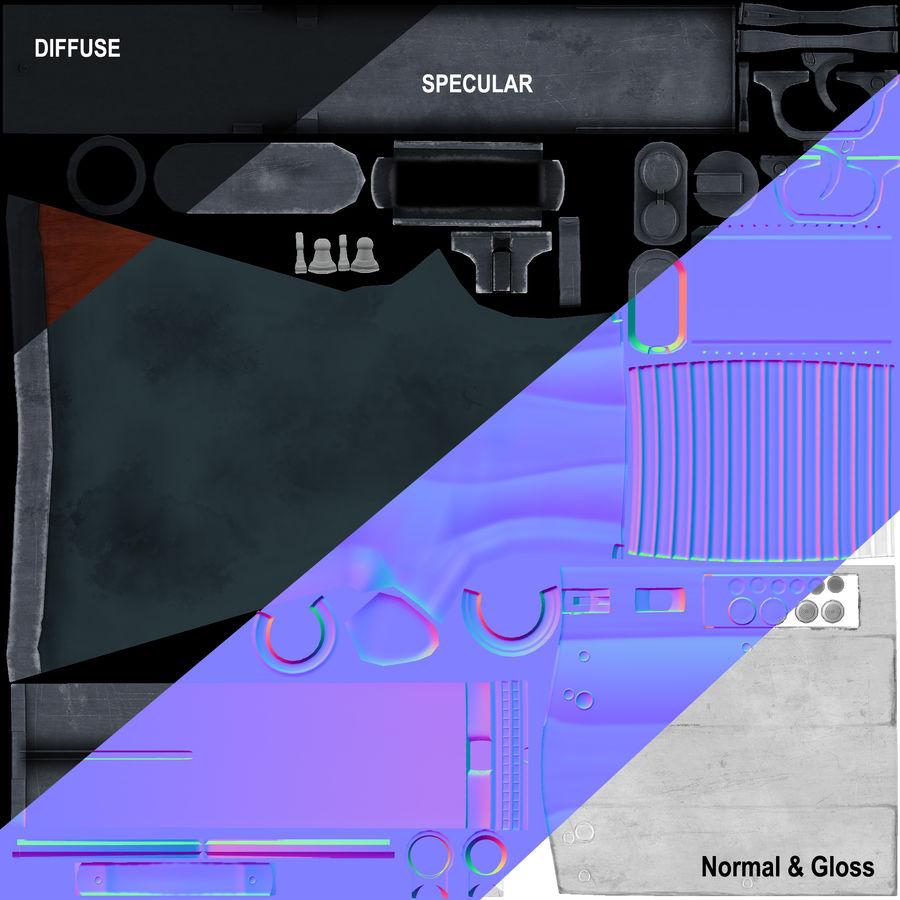 M37 Ithaca Shotgun royalty-free 3d model - Preview no. 7
