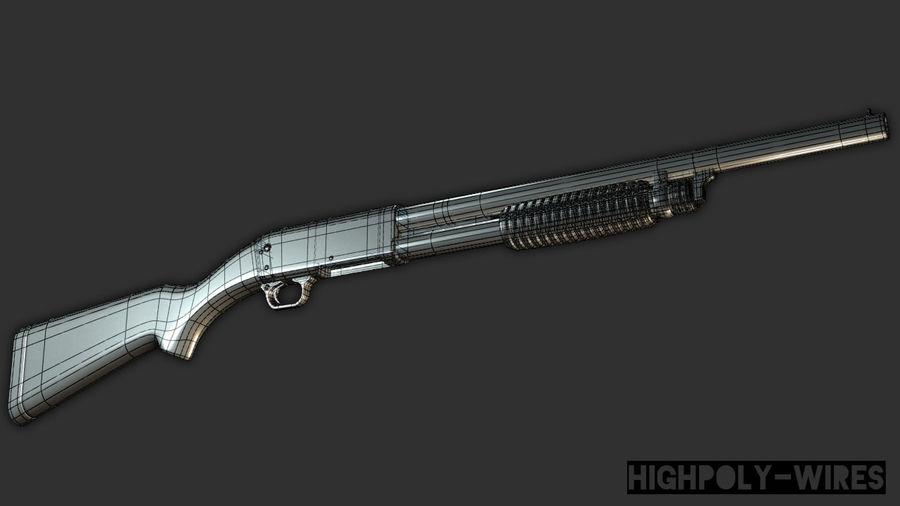 M37 Ithaca Shotgun royalty-free 3d model - Preview no. 9