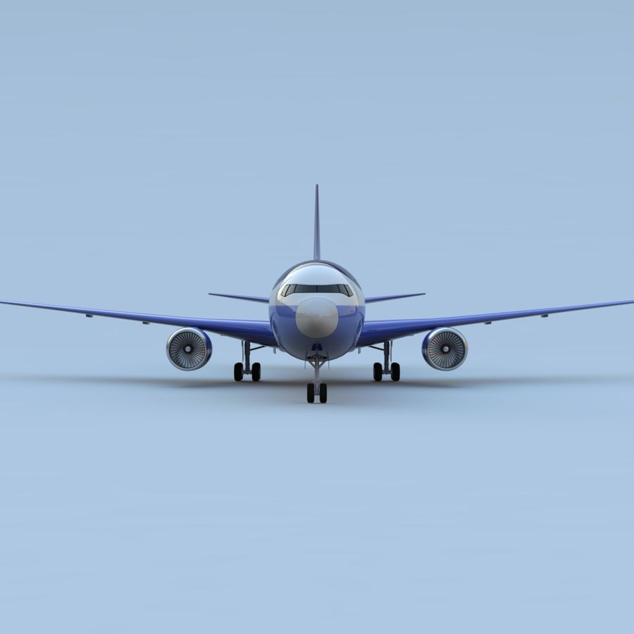 Boeing 767-400 royalty-free 3d model - Preview no. 3