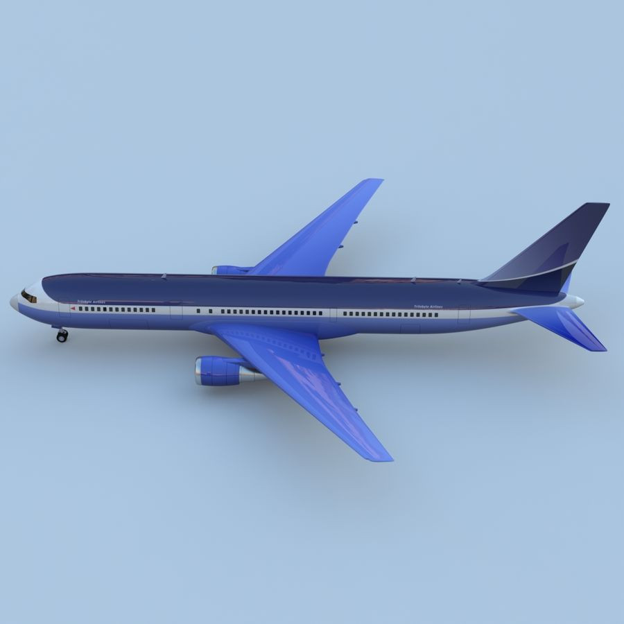 Boeing 767-400 royalty-free 3d model - Preview no. 4