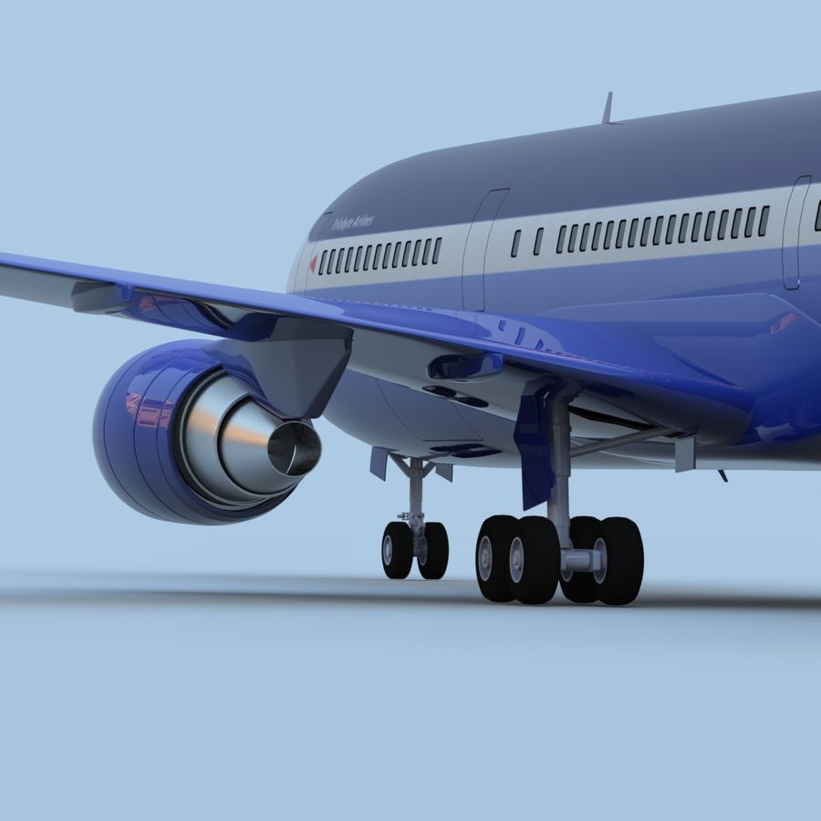 Boeing 767-400 royalty-free 3d model - Preview no. 6