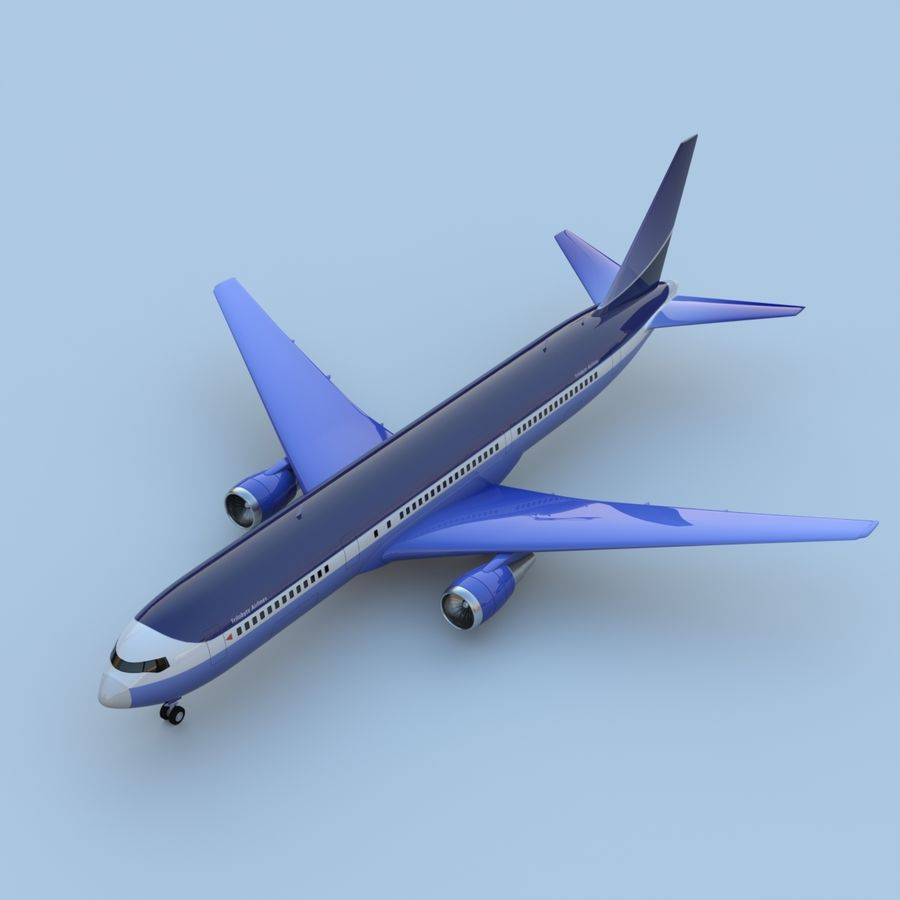 Boeing 767-400 royalty-free 3d model - Preview no. 1