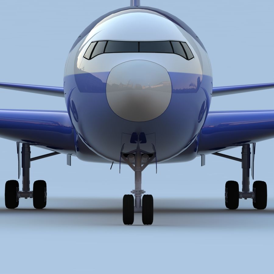 Boeing 767-400 royalty-free 3d model - Preview no. 5