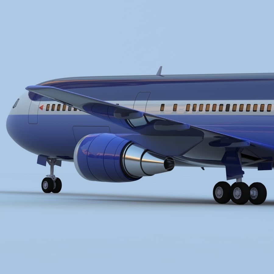Boeing 767-400 royalty-free 3d model - Preview no. 7
