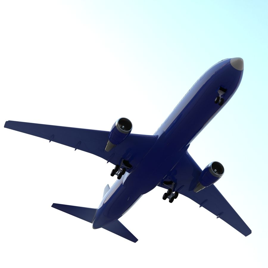 Boeing 767-400 royalty-free 3d model - Preview no. 2