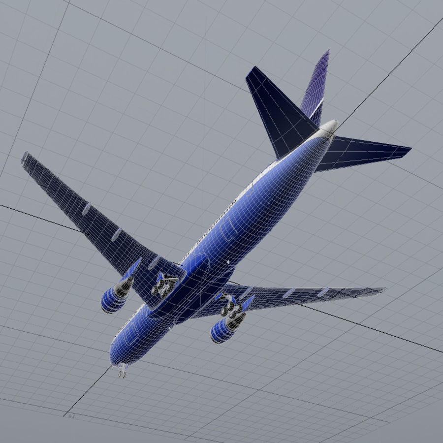 Boeing 767-400 royalty-free 3d model - Preview no. 9