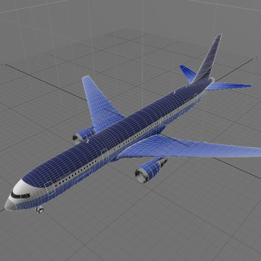 Boeing 767-400 royalty-free 3d model - Preview no. 8