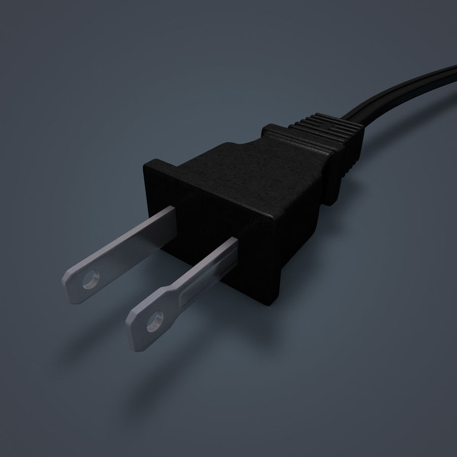 Electric Plug royalty-free 3d model - Preview no. 4