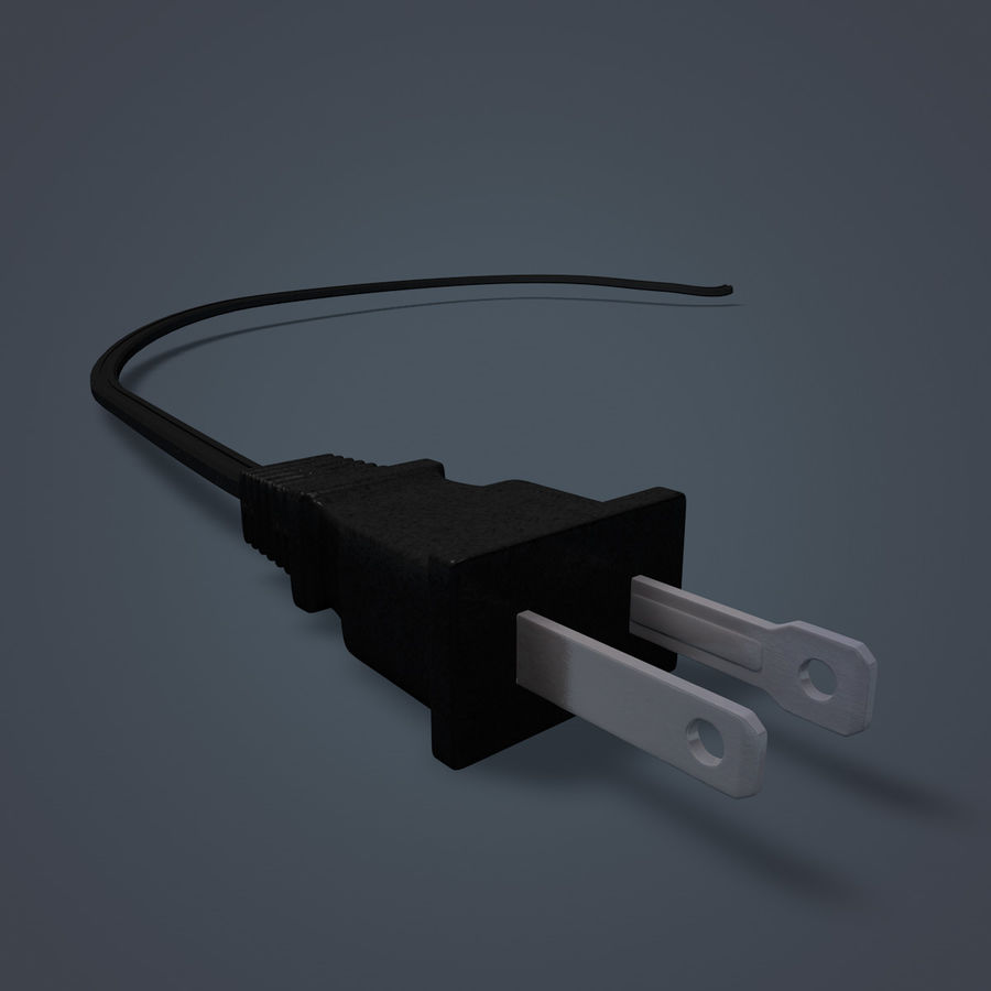 Electric Plug royalty-free 3d model - Preview no. 2