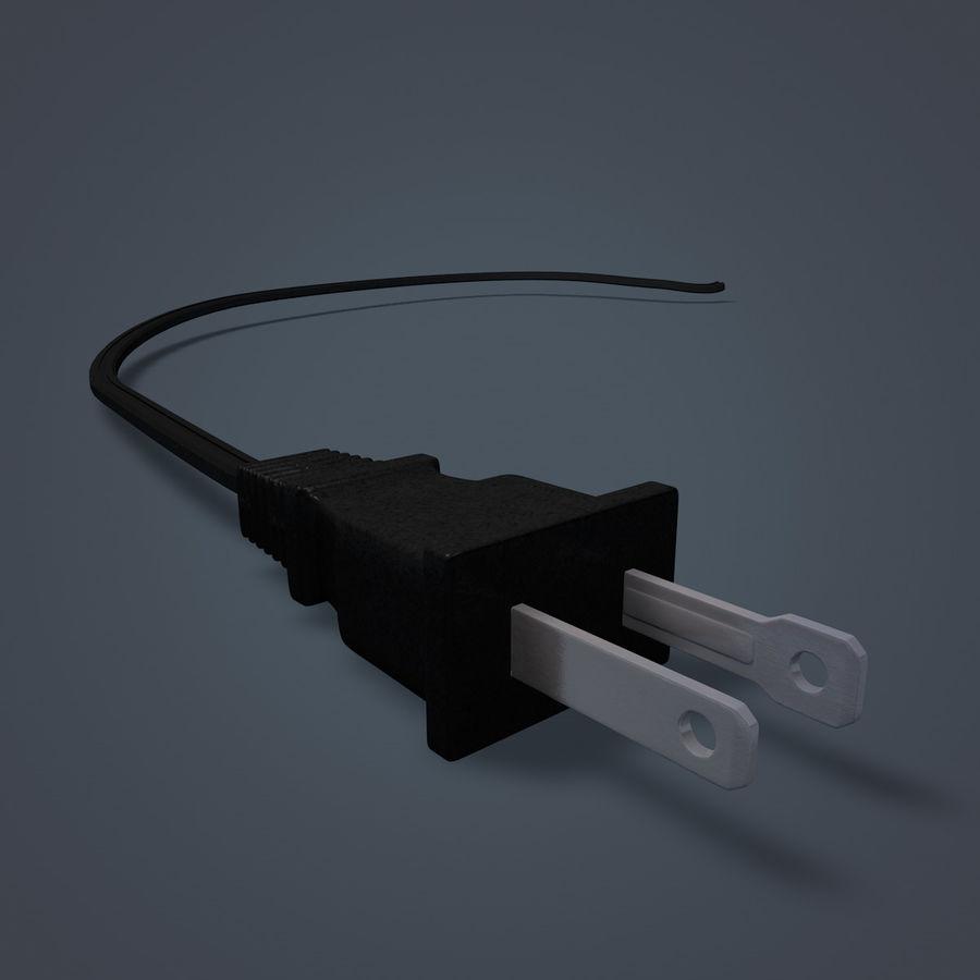 Электрическая вилка royalty-free 3d model - Preview no. 2