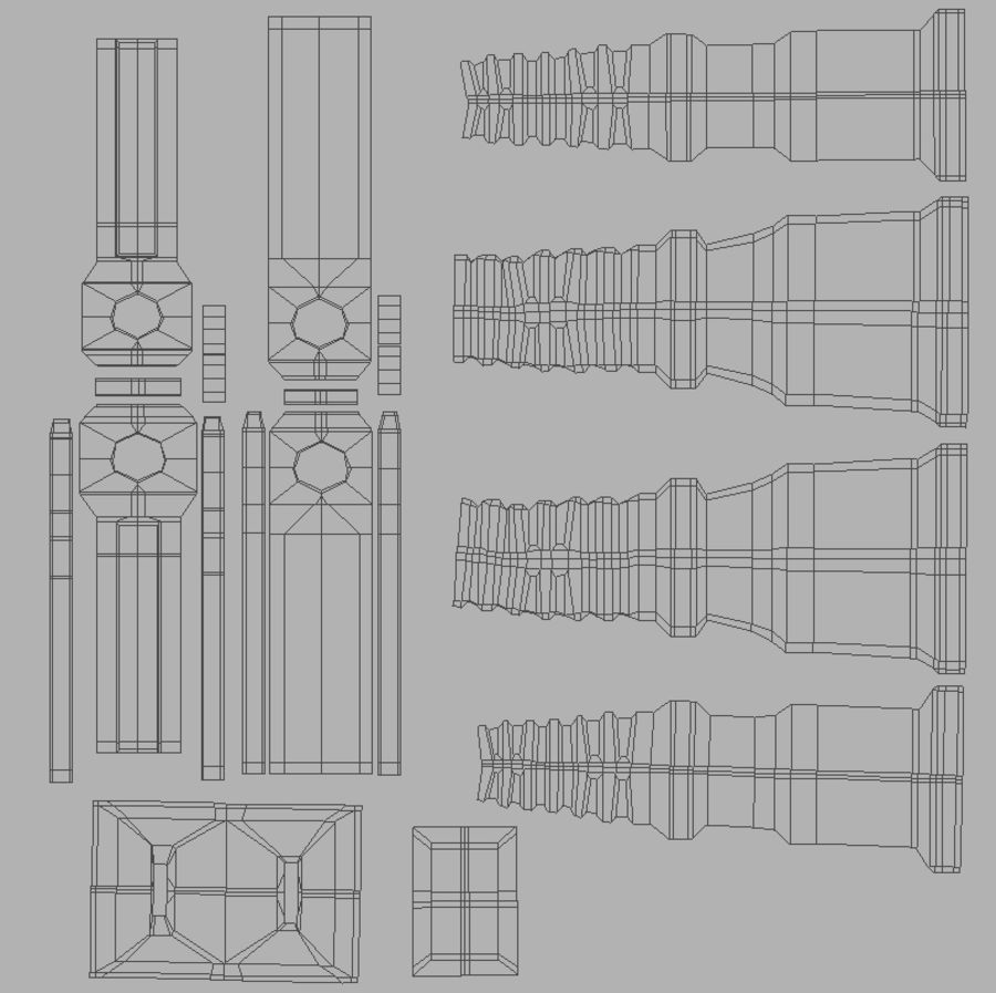Электрическая вилка royalty-free 3d model - Preview no. 7