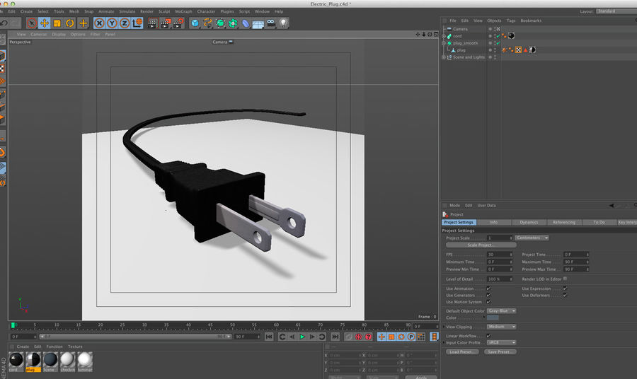 Electric Plug royalty-free 3d model - Preview no. 16