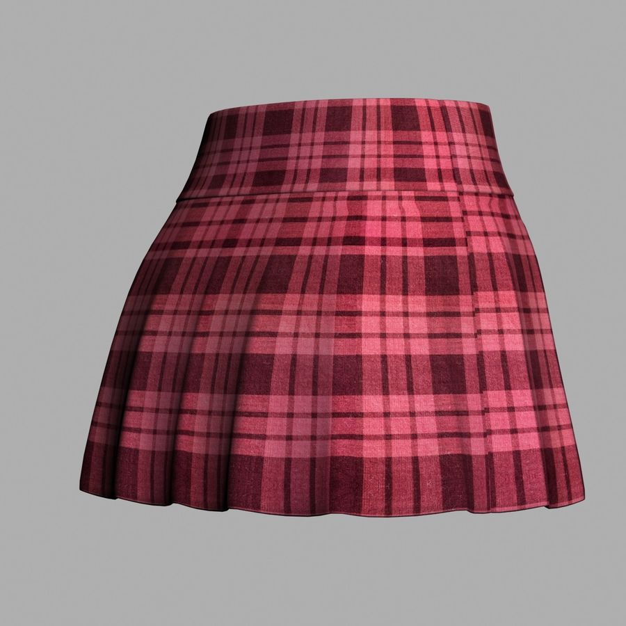 Skirt royalty-free 3d model - Preview no. 7