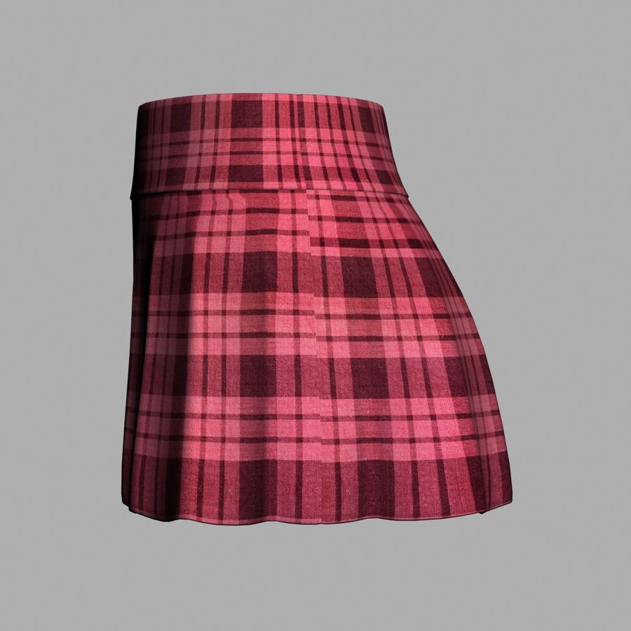 Skirt royalty-free 3d model - Preview no. 4