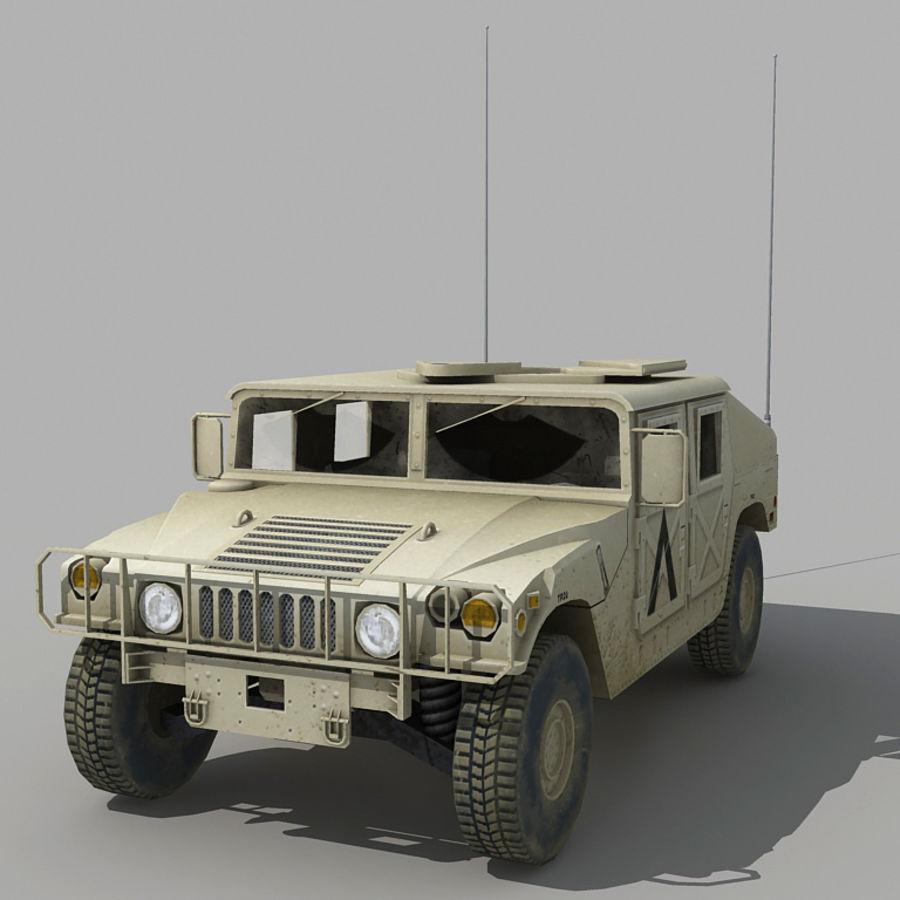 Humvee de lowpoly royalty-free modelo 3d - Preview no. 2