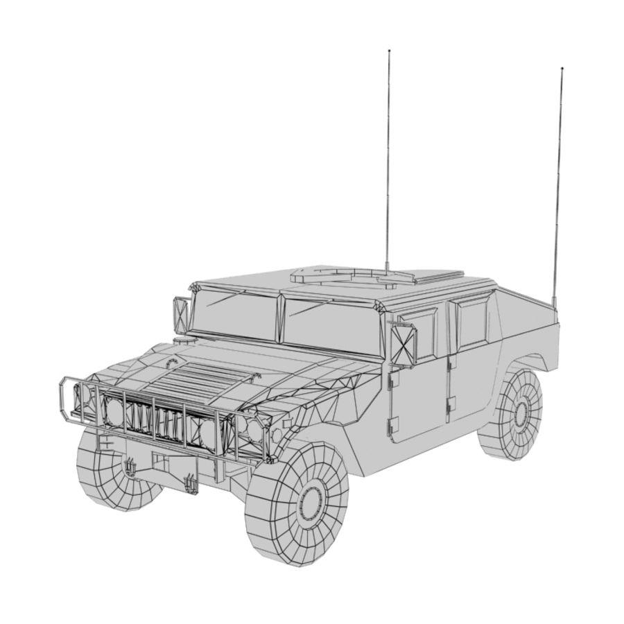 Humvee de lowpoly royalty-free modelo 3d - Preview no. 11