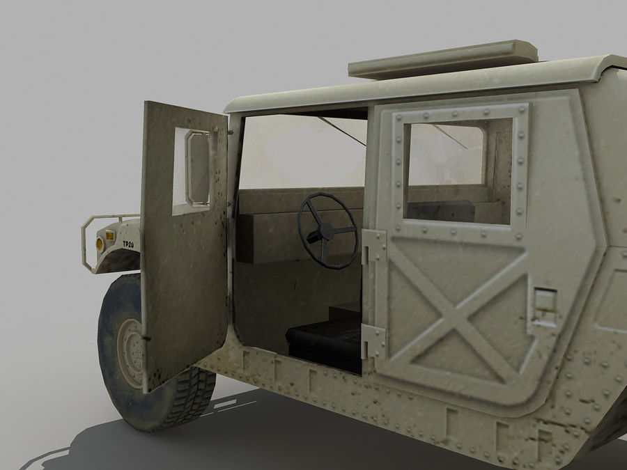 Lowpoly Humvee royalty-free 3d model - Preview no. 7