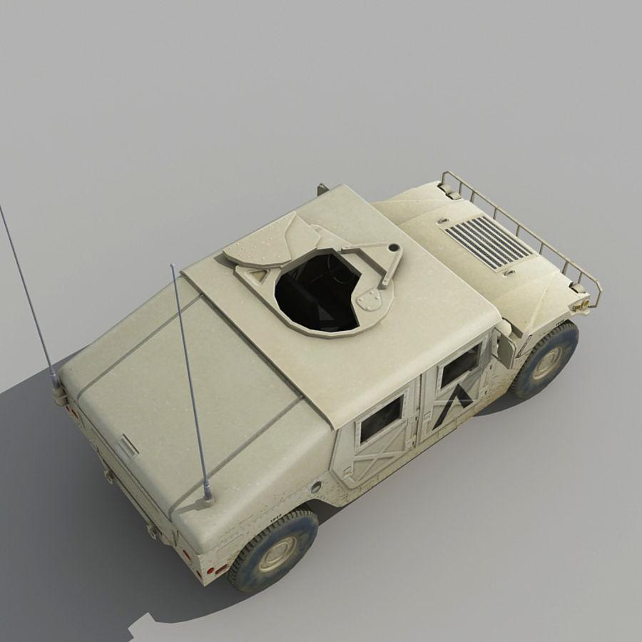 Humvee de lowpoly royalty-free modelo 3d - Preview no. 6