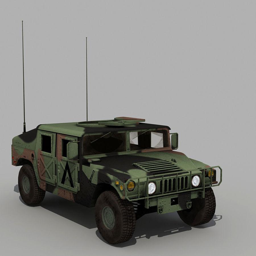 Humvee de lowpoly royalty-free modelo 3d - Preview no. 10