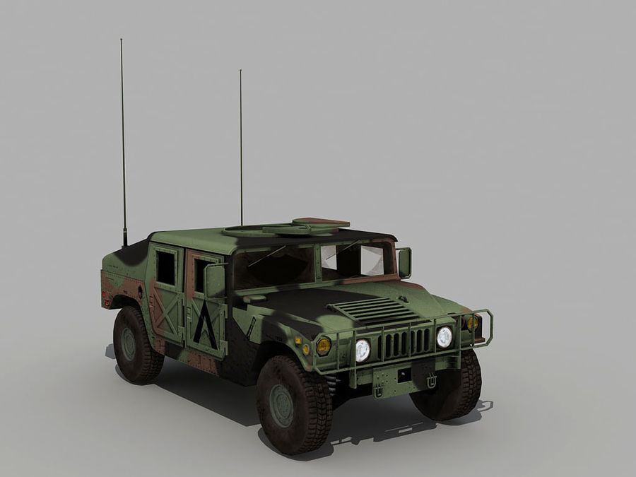 Lowpoly Humvee royalty-free 3d model - Preview no. 10