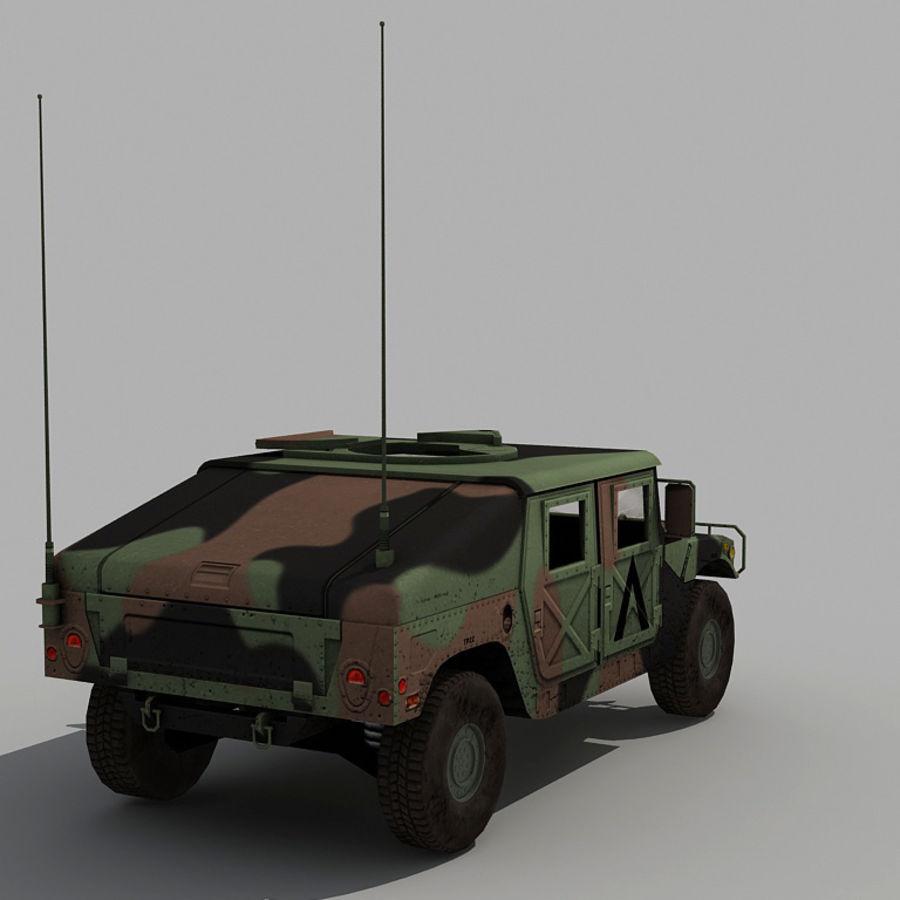 Humvee de lowpoly royalty-free modelo 3d - Preview no. 9