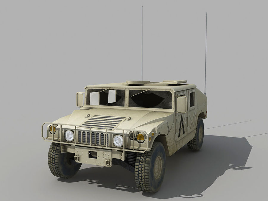Lowpoly Humvee royalty-free 3d model - Preview no. 1