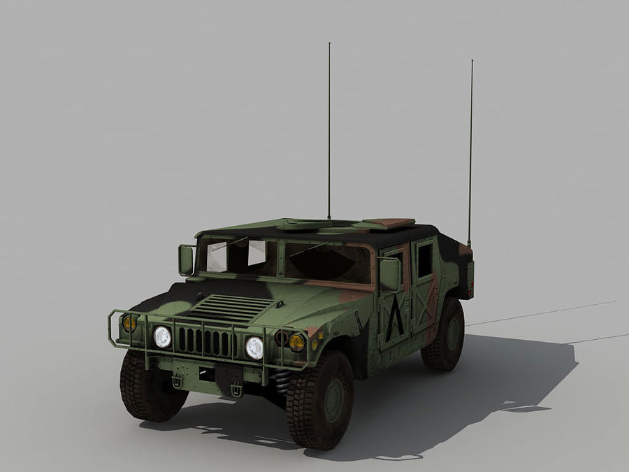 Lowpoly Humvee royalty-free 3d model - Preview no. 8