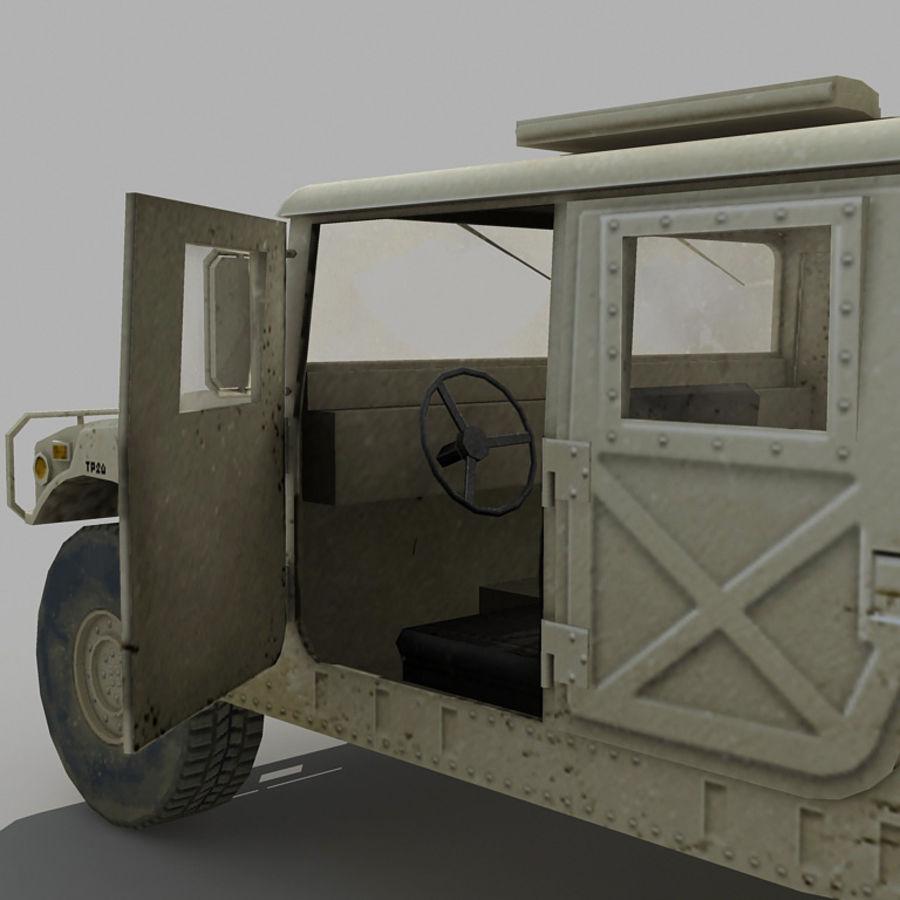 Humvee de lowpoly royalty-free modelo 3d - Preview no. 7
