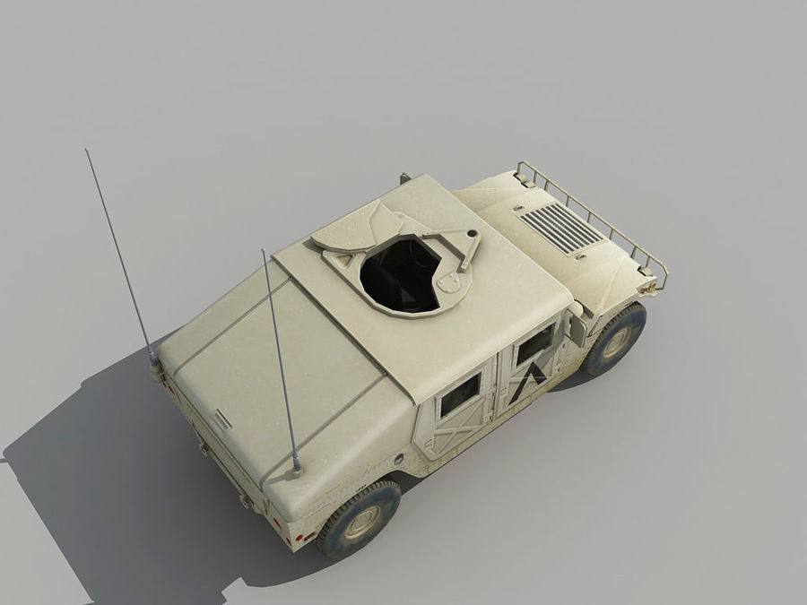 Lowpoly Humvee royalty-free 3d model - Preview no. 6