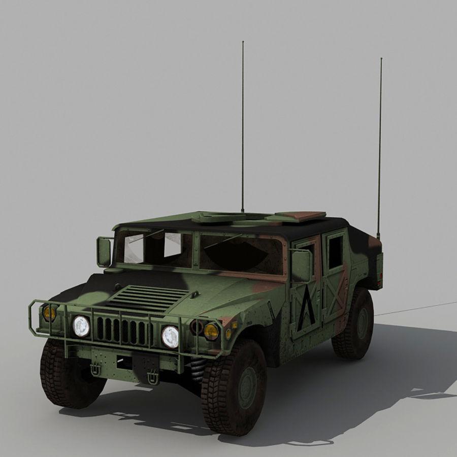 Humvee de lowpoly royalty-free modelo 3d - Preview no. 8