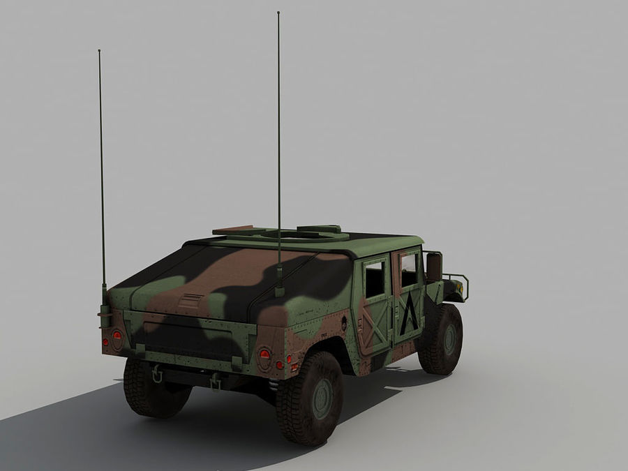 Lowpoly Humvee royalty-free 3d model - Preview no. 9