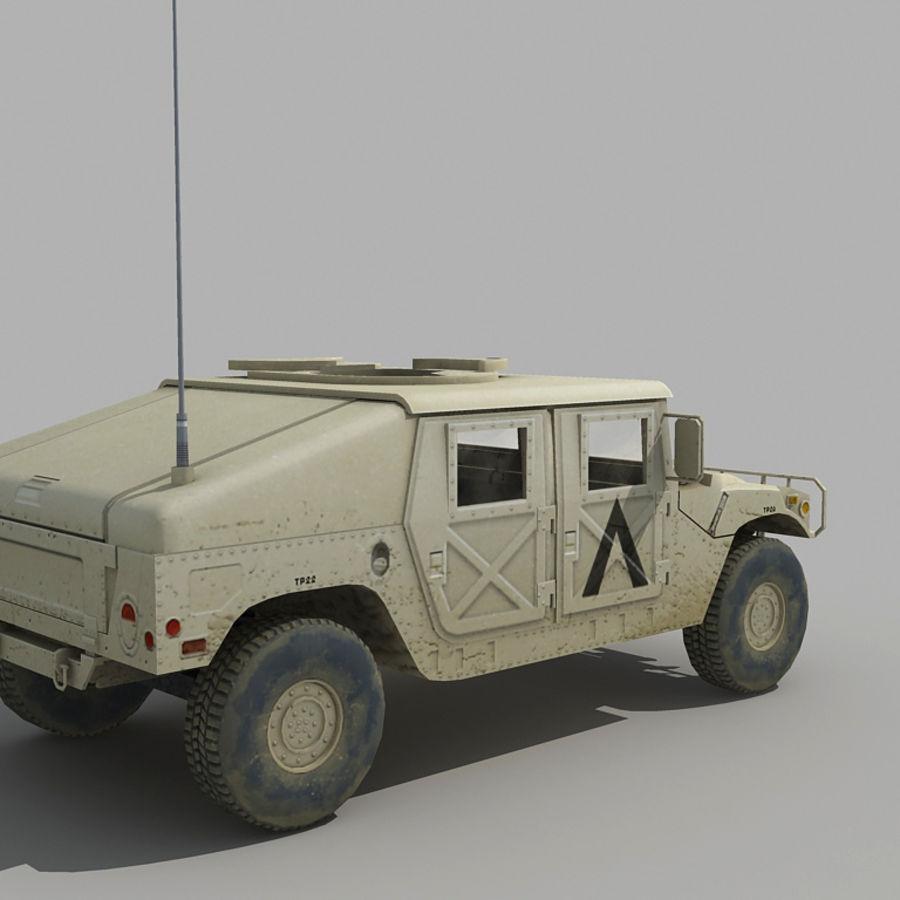 Humvee de lowpoly royalty-free modelo 3d - Preview no. 3