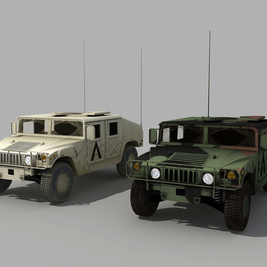 Humvee de lowpoly royalty-free modelo 3d - Preview no. 1