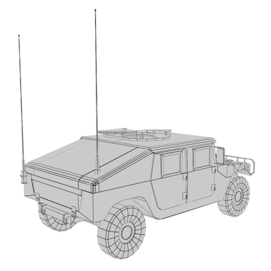Humvee de lowpoly royalty-free modelo 3d - Preview no. 12