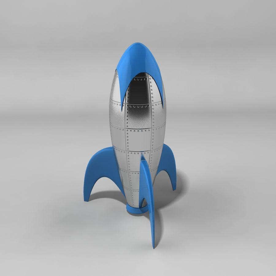Cartoon Rocket royalty-free 3d model - Preview no. 1