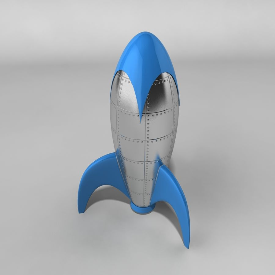 Cartoon Rocket royalty-free 3d model - Preview no. 2